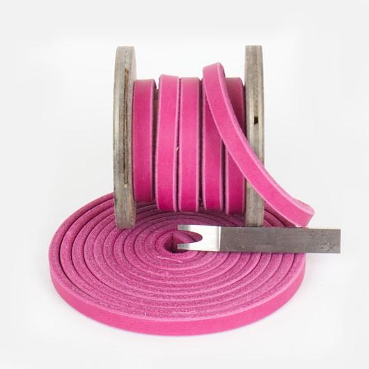Fettleder Meterware,  Pink