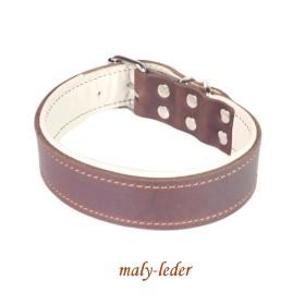 Fettleder Halsband 30mm breit, auch mit Prägung