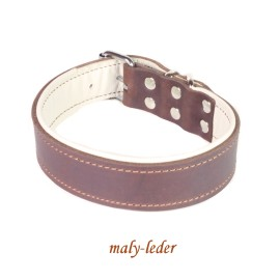 Fettleder Halsband 40mm breit, auch mit Prägung