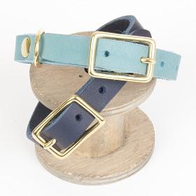 Hundehalsband, Welpen,Fettleder, maly-leder, 2 Größen