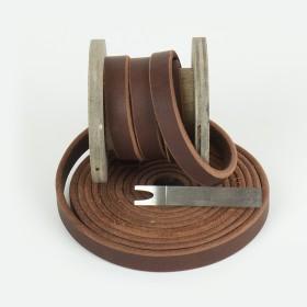 Fettleder Meterware, Braun