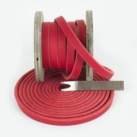 Fettleder Meterware in Rot