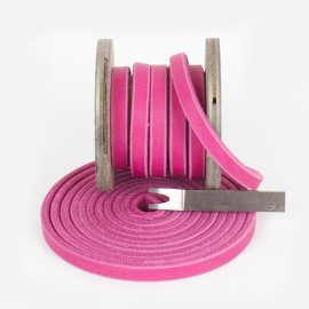 Fettleder Meterware, Endlosriemen, Pink