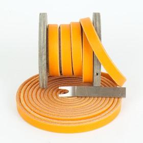 Fettleder Meterware, Orange