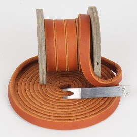 Fettleder Meterware,Sonderfarbe Karamell, 15mm