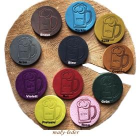 Fettleder Untersetzer, verschiedene Farben