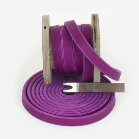 Fettlederriemen  Violett  2 Wahl 30mm