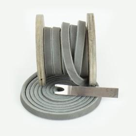 Fettlederriemen, 40mm, Grau