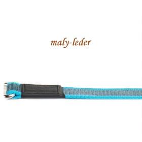 Gummierte Hundeleine, 12mm, mit/ohne Schlaufe, Blau