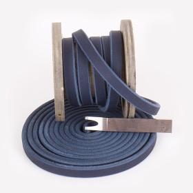 Fettlederriemen, 30mm, Blau